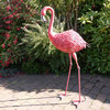 Tall Pink Flamingo Garden Sculpture