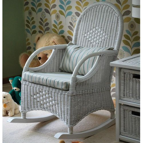 Conservatory Cane White Rocking Chair
