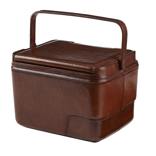Leather Insulated Cooler Picnic Box
