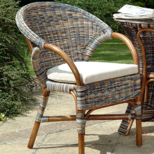 Small Cane Conservatory Chair Zebra Finish