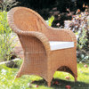 Patio or Conservatory Cane Chair Candy Brown