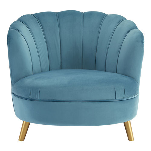 Blue Velvet Accent Chair Ophelia
