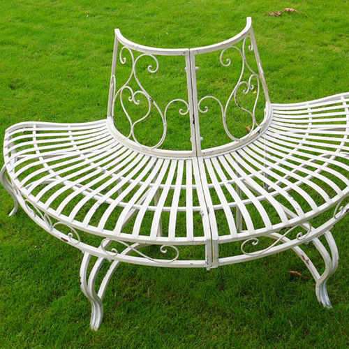 Half Round Metal Tree Seat Bench Seat