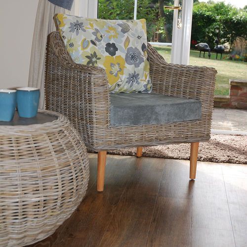 Small Conservatory Rattan Kubo Chair Surrey