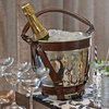 Leather And Nickel Champagne Ice Cooler
