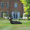 Large Metal laying Stag Garden Sculpture