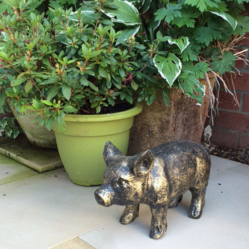 Small Standing Piglet Garden Ornament