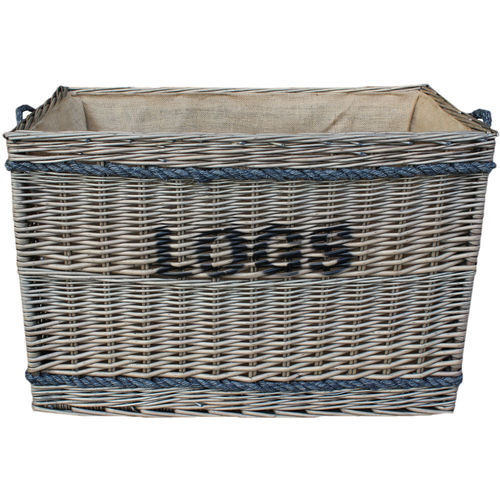 Jumbo Willow Log Basket and Lining