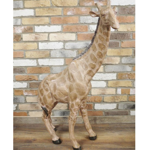 Tall Polyresin Indoor Giraffe Statue