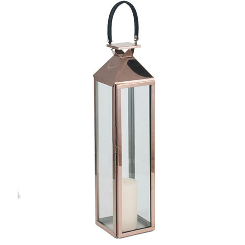 Med Shiny Copper S/Steel Storm Lantern