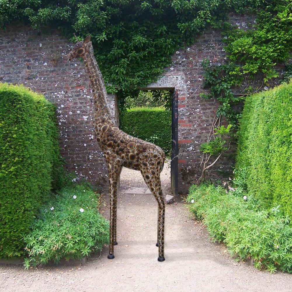 Large Metal Giraffe Sculpture|Giraffe Garden Statue ... on Backyard Metal Art id=19118
