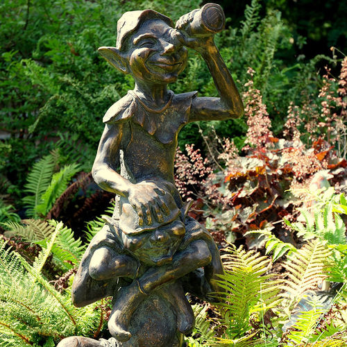 Classic Pixie On Shoulder Garden Sculpture