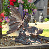 Magical Fairy Kneeling Garden Sculpture