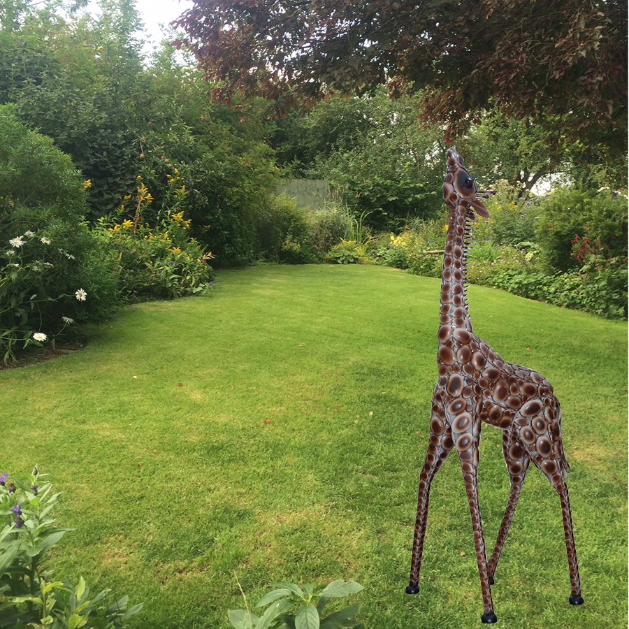 If You Are Looking For The Most Optimal Small Outdoor: Small Garden Giraffe Metal Garden Ornament