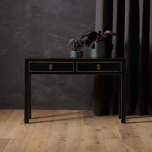 Large Black Chinese Style Console Table
