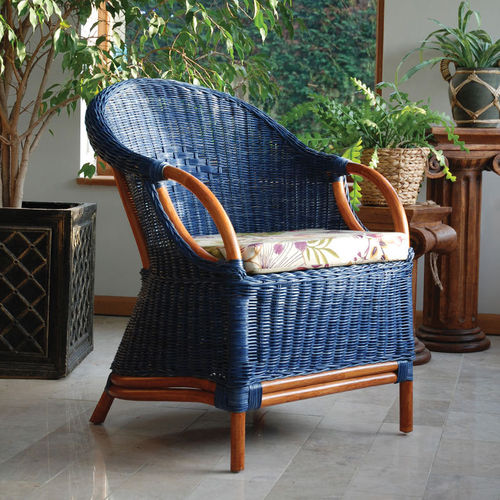 Blue Mahogany Conservatory Tub Chair