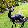Large Standing Single Stag Garden Ornament