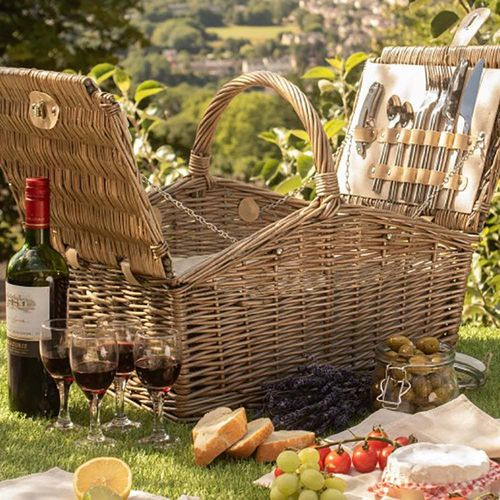 Double Lidded Picnic Hamper