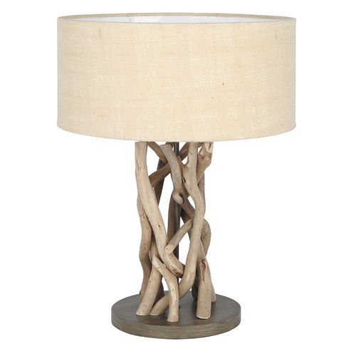 Driftwood Table Lamp Natural Jute Shade