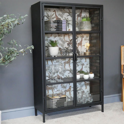 Industrial Metal Display 4 Shelf Cabinet