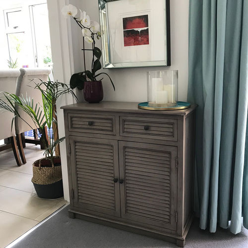 Taupe Pine 2 Door 2 Drawer Wooden Sideboard