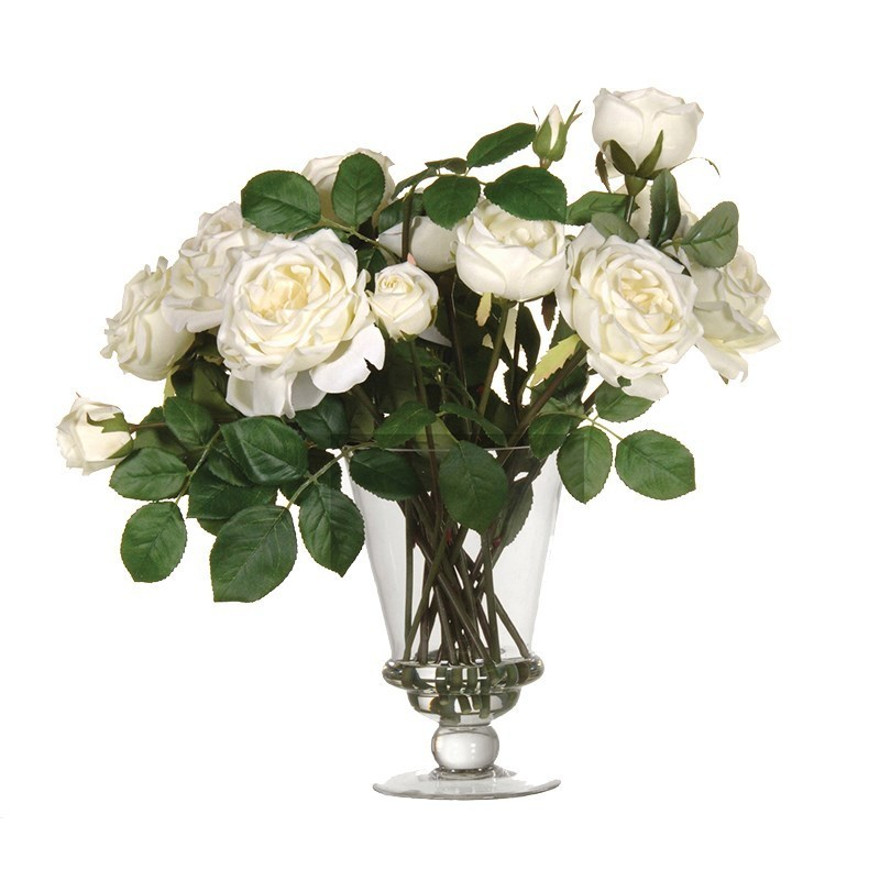 Fake Roses Artificial Flower Arrangements Uk Candle And Blue