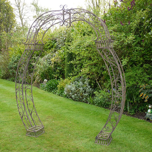 Decorative Brown Metal Rose Garden Arch