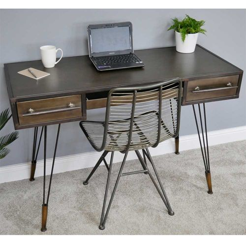 Urban Vintage Chic Style Metal Desk