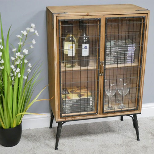 Rustic Industrial Style Bar Drinks Cabinet