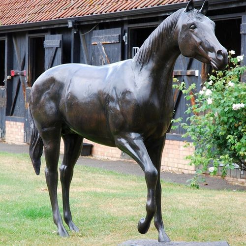 Large Race Horse Garden Sculpture
