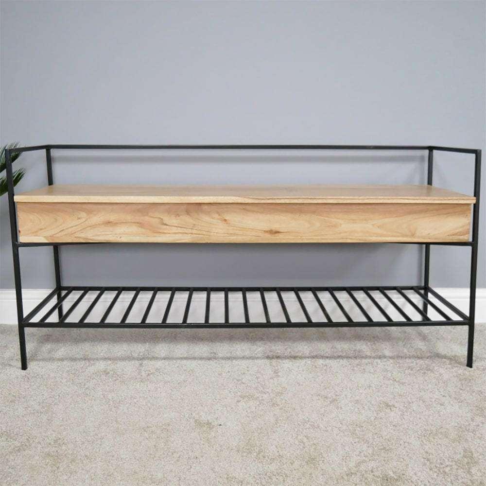 Brilliant Hall Wooden Blanket Box Seat Storage Seat Industrial Lamtechconsult Wood Chair Design Ideas Lamtechconsultcom
