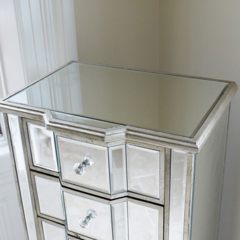 6 Drawer Venetian Style Mirrored Bedroom Furniture