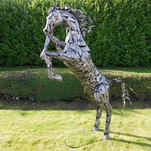 Horse Lawn Sculpture Large Garden, Horse Garden Statues Uk