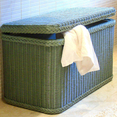 Classic Laundry Bin Sage Green With Lining