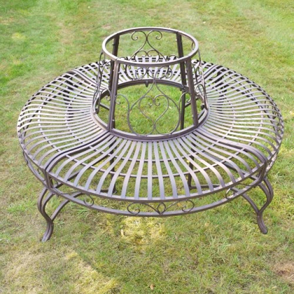 Awe Inspiring Tree Benches Metal Garden Tree Seating Garden Bench Candle Ncnpc Chair Design For Home Ncnpcorg