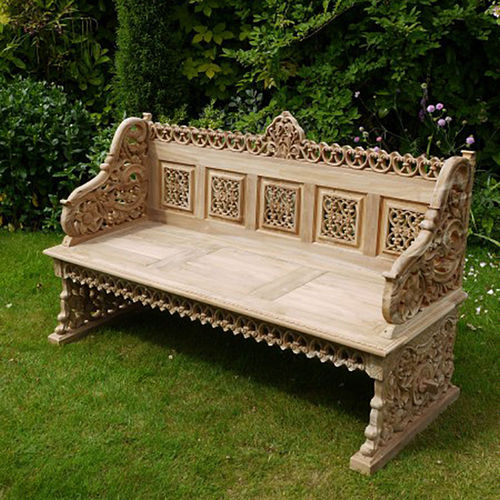 Large Hardwood Teak Garden Bench