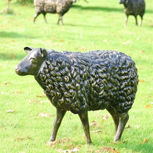 Life Size Metal Sheep Garden Sculpture