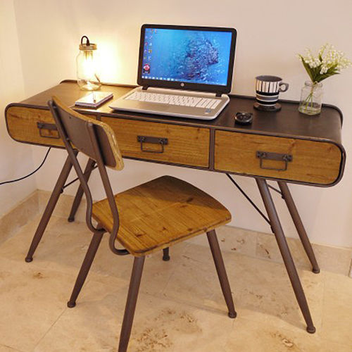 Retro Vintage Style Writing Desk And Chair