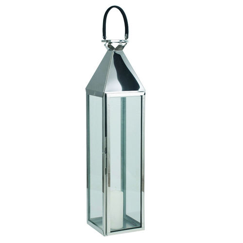 Large Nickel Stainless Steel Hurricane Lantern
