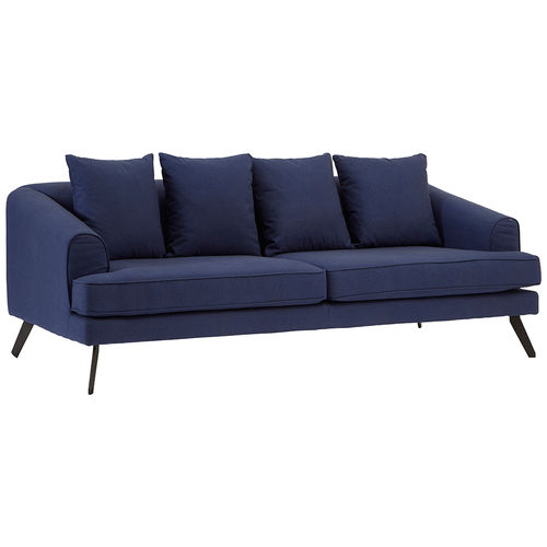 Jamie 3 Seater Blue Upholstered Sofa