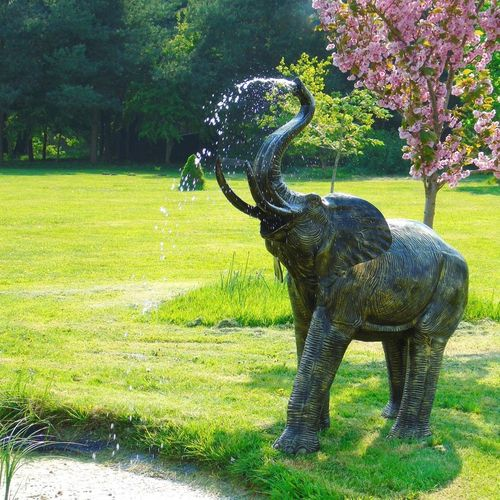 Tall Elephant Garden Water Feature