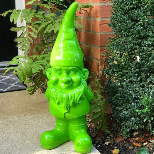 Large Green Resin Garden Gnome Humphrey