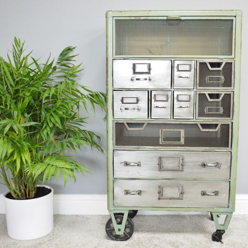 Industrial Metal Multi-Drawer Cabinet