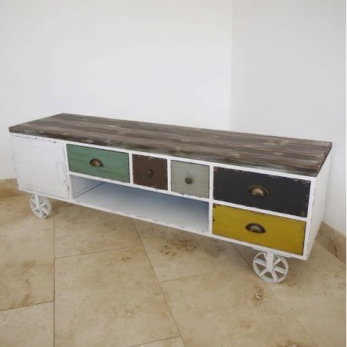 Industrial Colourful TV Cabinet