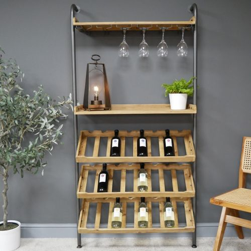 Industrial Lean To Wine Cabinet
