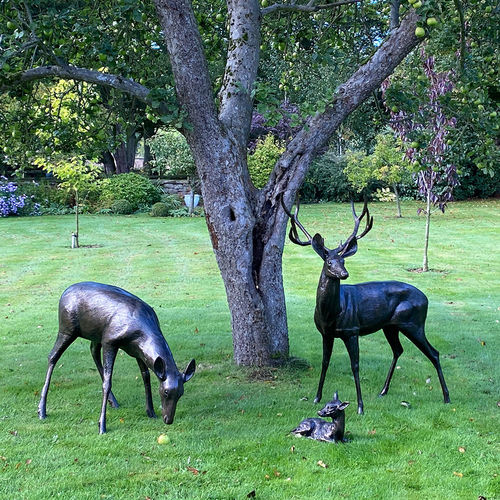Majestic Garden Stags Sculpture