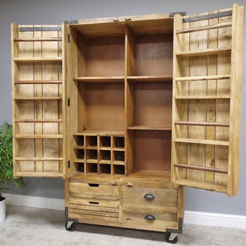 Large Industrial Wooden Cabinet