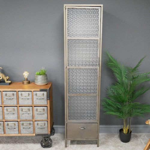 Industrial Slim Metal Display Cabinet