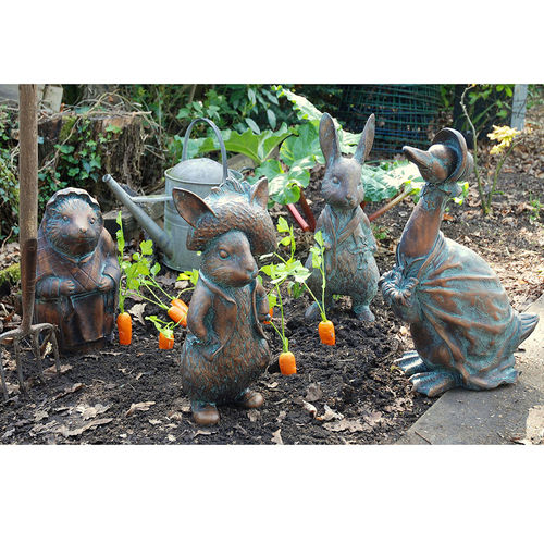 Beatrix Potter Garden Sculpture Set