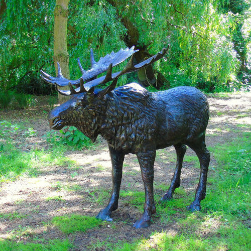 Life-Size Garden Moose Sculpture